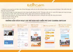 Hướng dẫn kích hoạt LƯU TRỮ ĐÁM MÂY MIỄN PHÍ cho camera EBITCAM