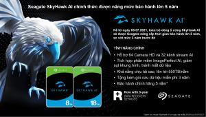 Seagate SkyHawk AI chính thức được nâng mức bảo hành lên 5 năm